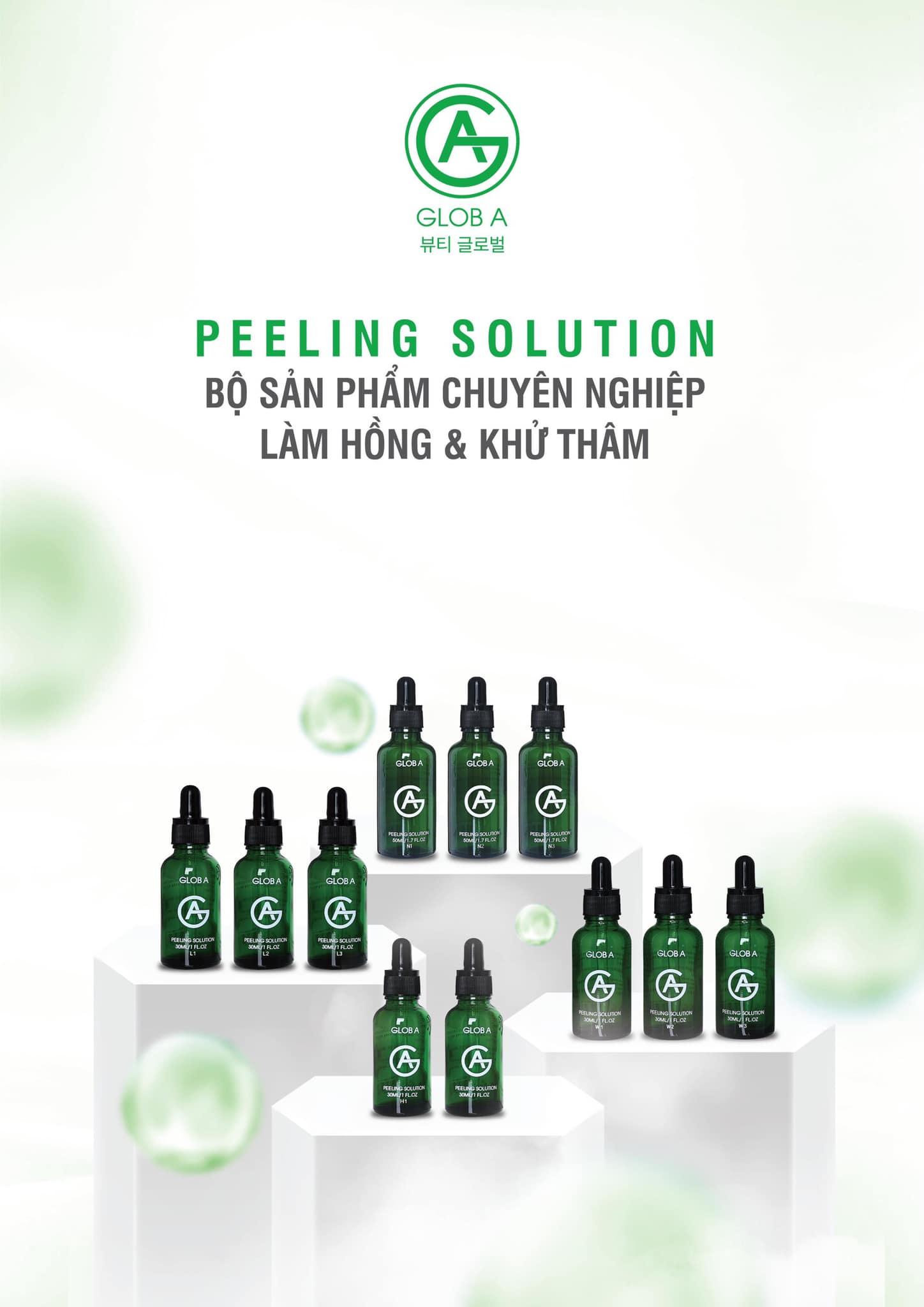Glob A Peeling Solution - Bộ sản phẩm chuyên nghiệp làm hồng & Khử thâm.